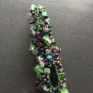 Jewelry - Costume jewelry bracelet amethyst beading